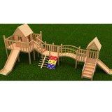 カスタマイズされた子供の屋外の運動場の木橋