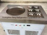 Alta efficienza una macchina del rullo fritta cassetti rotondi del gelato della vaschetta 6
