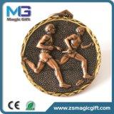 최신 판매에 의하여 주문을 받아서 만들어지는 금속 스포츠 메달