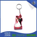 Custom Cheap Fashion 3D Soft PVC Keychain para promoção