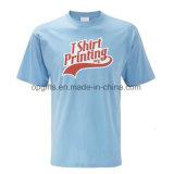 Regalos promocionales personalizados ete 100 camisetas de algodón peinado Wholsale