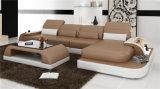 Weißes Wohnzimmer-Leder-Schnittsofa (HC1093)