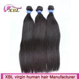 Pacotes peruanos por atacado do cabelo do Virgin com fechamento do laço