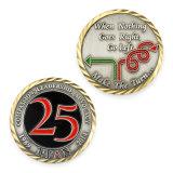 Laiton Antique personnalisé anniversaire Défi Coin plaques étiquettes RFID Retour Pièce