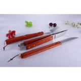 деревянная ручка 5PCS с нержавеющей сталью 430 комплектов BBQ