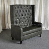 (SP-KS271)黒い房状の革最高背部レストランブースのソファー