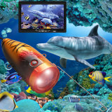 """30m 7 """" TFT LCD der Videokamera-Systems-Fisch-Sucher HD 600TV zeichnet Unterwasserkamera"""