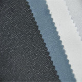 Venta caliente 100% poliéster tejido sarga entretela adhesiva para prendas de vestir