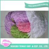 Alta resistência a lã de malhas de poliéster algodão fios fantasia
