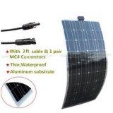Panneau solaire 110W Semi-Flexible pour RV bateau Camping Chargeur de batterie 12V