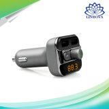 Nécessaire émetteur FM mains libres de véhicule de lecteur MP3 du chargeur 3.4A de véhicule de Bluetooth avec le port USB duel