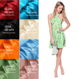 Tissu en soie de satin d'impression de Digitals de modèle de mode pour la robe