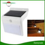 16 LED de energía solar PIR Sensor de movimiento de la lámpara de la escalera de jardín cerca luz al aire libre impermeable luz de paso de seguridad