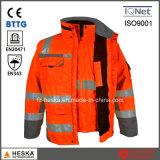 Видимость 3 3:3 En20471 En343 высокая в 1 куртке рефлектора безопасности Parka