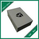 灰色のカスタマイズされたロゴの印刷の空想のギフト用の箱