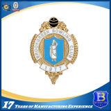 La policía del final del oro Badge con el esmalte suave (ELE-Badge001)