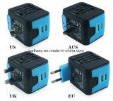 Chargeur duel universel multifonctionnel de ports USB avec les fiches BRITANNIQUES d'UE Aus des Etats-Unis