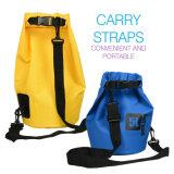 Sacchetti asciutti del PVC del barilotto impermeabile esterno del sacchetto asciutto 30L con la cinghia registrabile