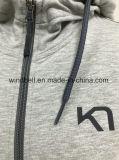 Застежка-молния Hoody обыкновенного толком Melange высокого качества полная для женщин с резиновый печатью
