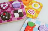 Brinquedos de madeira do enigma educacional de madeira de Foodset (CA04006-1)