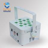La PARITÉ rechargeable blanche de Freedoom DEL de lumière de PARITÉ de la radio DEL de la quarte V12 12*10W 4in1 RGBW/RGBA de cas peut pour l'usager