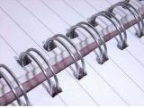 Alambre gemelo doble del anillo para el cuaderno que ata HS1688