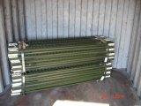 Покрашенный зеленым цветом столб столба t сада