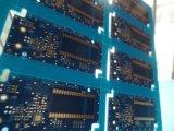 Fentes bleues de carte d'or de submersion de carte de Matt de modèle de carte de l'électronique
