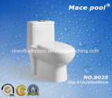Well-Sold Siphonic S-Trap One-Piece Toilette Sanitaires en céramique (8025)