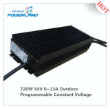 bloc d'alimentation continuel programmable extérieur de la tension DEL de 720W 54V