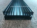 6063t5 Anodizado Negro 10um Perfil de extrusión de aluminio Disipador de calor