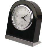 Forma redonda de metal cromado plata reloj alarma