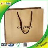 Подгонянная хозяйственная сумка ткани подарка золота логоса печатание