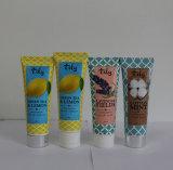 Câmara de ar cosmética plástica da etiqueta de papel para o limpador da face com o tampão da parte superior da aleta