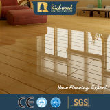 V溝12.3mm AC3 E1 HDFのカシの寄木細工の床のビニール木積層物によって薄板にされるフロアーリング