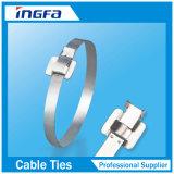 304 316 ataduras de cables revestidas ajustables del acero inoxidable del grado