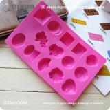 14 moldes diferentes do cozimento do silicone da forma com 20*13.1.5cm