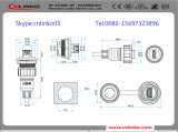 Conector de potencia de Lp-20 IP67 con 7pins para la pantalla del LED y el equipo de Indusrial