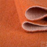 100% 오렌지에 있는 겨울 절기 동안 두 배 측 캐시미어 천 직물