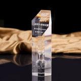 Kundenspezifischer heißer Verkaufs-Raum-Kristalltrophäe-Preise für Geschäfts-Geschenke