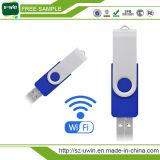 Alta velocidade WiFi USB 3.0 16GB, USB sem fio para compartilhamento de vídeo, música por smartphone