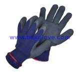 Gant acrylique de latex de doublure de 7 mesures