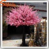 Albero del fiore di ciliegia della seta artificiale di colore rosa della decorazione del giardino