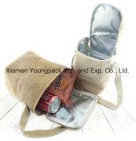 Grande sacchetto isolato riutilizzabile del dispositivo di raffreddamento della iuta stampato abitudine promozionale