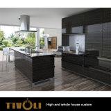 Armadio da cucina bianco e nero moderno alla moda della pittura con l'abitudine della Camera piena per l'appartamento Tivo-071VW
