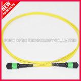 12 Kabel van het Flard van de Elite MTP van de Vezel van kernen de Optische Singlemode