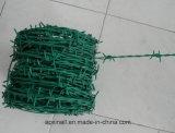 Горячая окунутая гальванизированная колючая проволока PVC колючей проволоки Coated