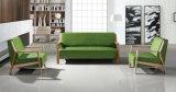 Do couro de madeira do pé da mobília de escritório do projeto da forma sofá secional (HX-CF018)