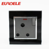 Interruttore elettrico acrilico della parete del gruppo 250V/10A del nero 2 del piatto