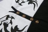 Kundenspezifisches Schwarz-nähendes Stickerei-Form-T-Shirt
